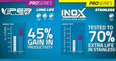 INDEPENDENT TESTING SHOWS SUTTON TOOL'S VIPER PLUS AND INOX DRILL BITS ARE CLASS LEADERS